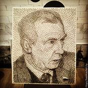 Картины и панно ручной работы. Ярмарка Мастеров - ручная работа портрет на заказ в стиле stringart. Handmade.