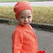 """Работы для детей, ручной работы. Ярмарка Мастеров - ручная работа Кофточка и шапочка """"Морковка"""" для девочки. Handmade."""