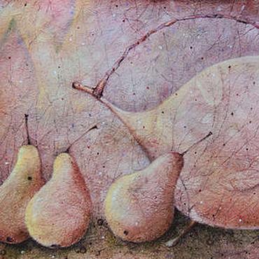 Картины и панно ручной работы. Ярмарка Мастеров - ручная работа Пряный чай с дикими грушами...Картина-принт на холсте. Handmade.