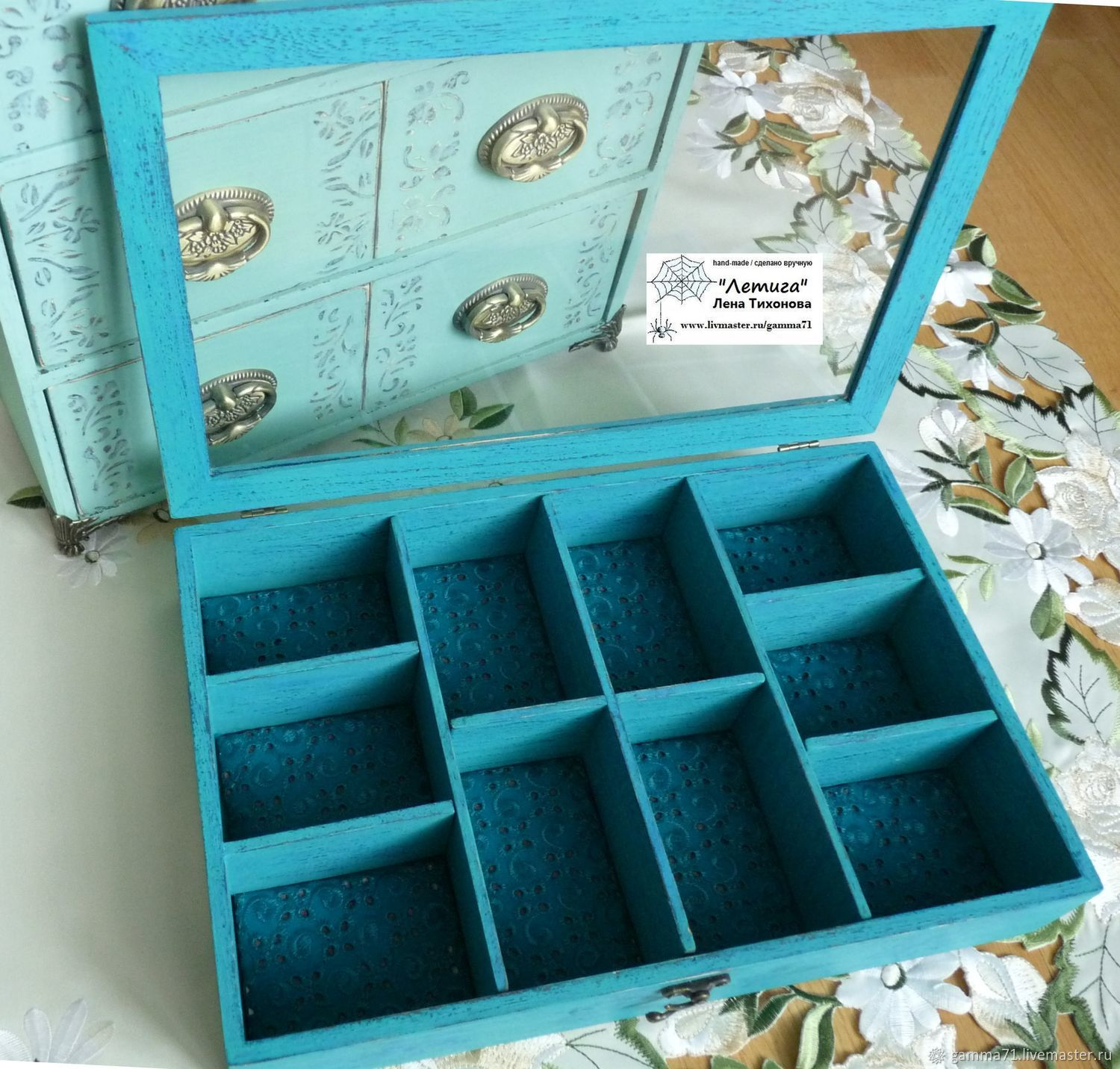 Showcase organizer for jewelry and Turquoise jewelry, Box, Yalta,  Фото №1