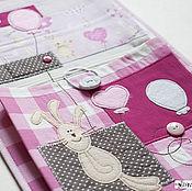 Для дома и интерьера ручной работы. Ярмарка Мастеров - ручная работа Кармашки в детский сад Заяц на шаре, кармашки для мелочей. Handmade.