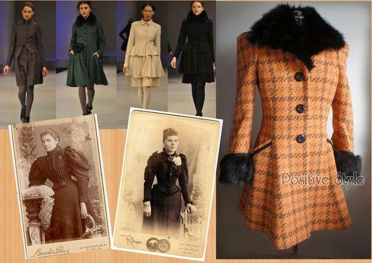 """Верхняя одежда ручной работы. Ярмарка Мастеров - ручная работа. Купить Пальто зимнее """"Барышня"""". Handmade. Оранжевый, зима"""