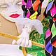 Сказочные персонажи ручной работы. кукла Арлекин. Оксана Бредихина. Ярмарка Мастеров. Кукла текстильная, арлекино, атласная лента