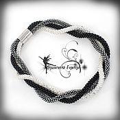 """Украшения ручной работы. Ярмарка Мастеров - ручная работа Жгут из бисера колье """"Трио"""". Handmade."""