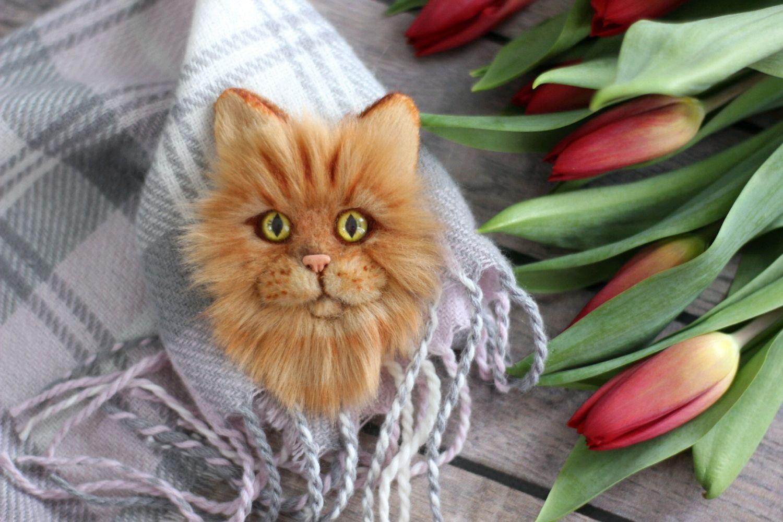 "Брошка ' Рыжий кот"". Брошь по фото, Броши, Волгоград, Фото №1"