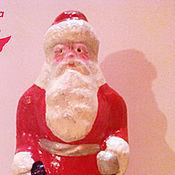 Винтаж ручной работы. Ярмарка Мастеров - ручная работа Дед Мороз маленький. Опилочный. Реставрация. Handmade.
