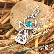 Украшения handmade. Livemaster - original item angel. Pendant silver, emerald.. Handmade.