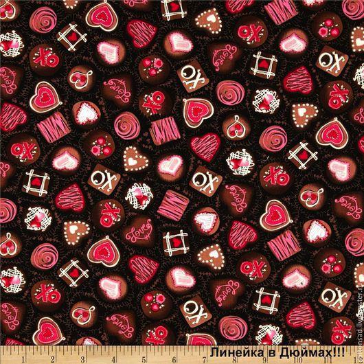 """Шитье ручной работы. Ярмарка Мастеров - ручная работа. Купить Ткань для пэчворка (2вида) """"Love & Kisses"""". Американский хлопок.. Handmade."""