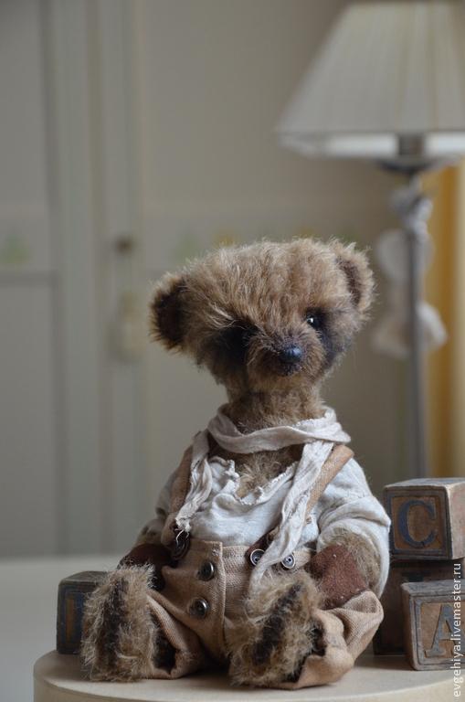 Мишки Тедди ручной работы. Ярмарка Мастеров - ручная работа. Купить миша. Handmade. Коричневый, интерьерная игрушка, лён