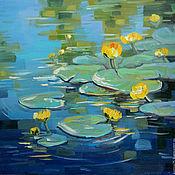 Картины и панно handmade. Livemaster - original item Oil painting of Yellow lilies. Handmade.