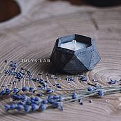 Свечи ручной работы. Ярмарка Мастеров - ручная работа Соевая свеча в бетоне с ароматом лаванды. Handmade.