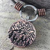 Зоотовары handmade. Livemaster - original item Medallion for a dog Sunset in the mountains. Handmade.