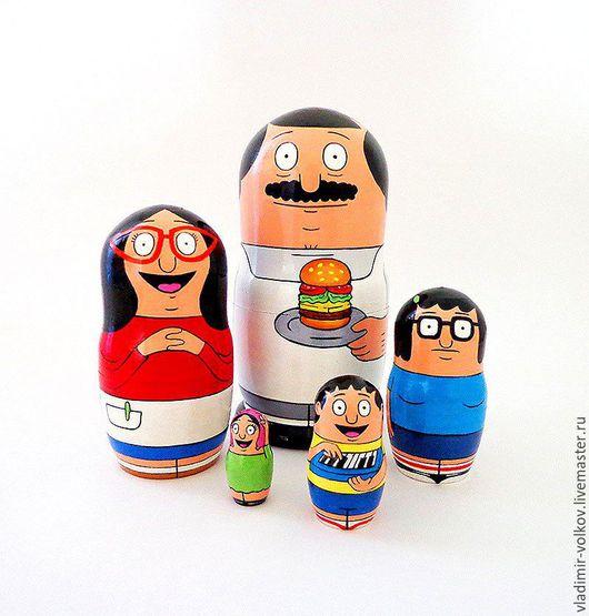 Матрешки ручной работы. Ярмарка Мастеров - ручная работа. Купить Матрешка Боб Бургер nesting dolls matryoshka Bob's Burgers. Handmade.