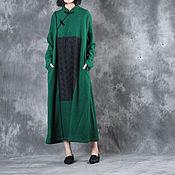 Одежда ручной работы. Ярмарка Мастеров - ручная работа Зеленое шерстяное платье. Handmade.