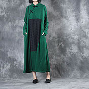 Одежда handmade. Livemaster - original item Green woolen dress. Handmade.