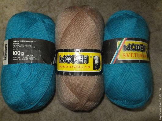 Вязание ручной работы. Ярмарка Мастеров - ручная работа. Купить Пряжа чистая шерсть. Handmade. Бирюзовый, пряжа в наличии