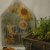 """Для дома и интерьера ручной работы. Ярмарка Мастеров - ручная работа Ключница """"В летнем саду"""". Handmade."""