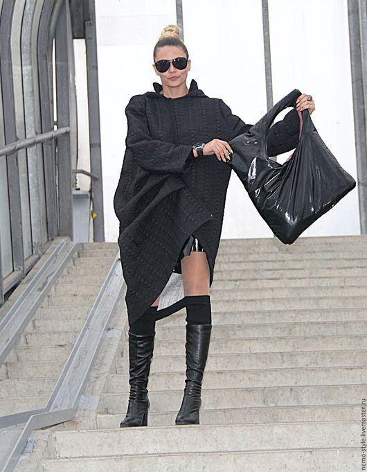 Женские сумки ручной работы. Ярмарка Мастеров - ручная работа. Купить Стильная сумка из лаковой кожи. Handmade. Черный, экстравагантная
