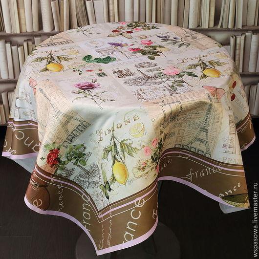 Текстиль, ковры ручной работы. Ярмарка Мастеров - ручная работа. Купить Скатерть Европейская. Handmade. Бежевый, красивая скатерть