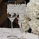 Свадебные аксессуары ручной работы. Ярмарка Мастеров - ручная работа. Купить Бокалы свадебные. Handmade. Белый, фужеры, стекло