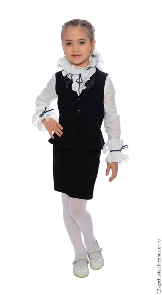 """Одежда унисекс ручной работы. Ярмарка Мастеров - ручная работа. Купить Школьная форма """"Звонок для учителя"""" для девочки. Handmade."""