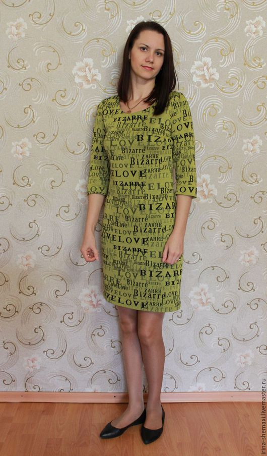 Платья ручной работы. Ярмарка Мастеров - ручная работа. Купить Платье из трикотажа. Handmade. Зеленый, платье на заказ