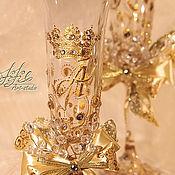 """Свадебный салон ручной работы. Ярмарка Мастеров - ручная работа Бокалы свадебные - """"золото королей"""". Handmade."""