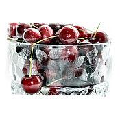 Винтаж ручной работы. Ярмарка Мастеров - ручная работа Хрустальная конфетница или ваза для фруктов с ягодами малины. Handmade.