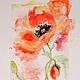 Картины цветов ручной работы. Ярмарка Мастеров - ручная работа. Купить Акварельные Маки. Handmade. Маки, подарок на юбилей, акварель