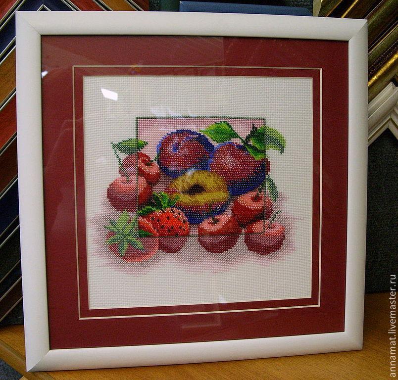 Вышивка крестом с бисером фрукты