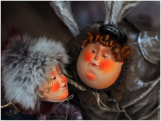 Коллекционные куклы ручной работы. Ярмарка Мастеров - ручная работа. Купить Зимние забавы. Handmade. Авторская ручная работа, зима