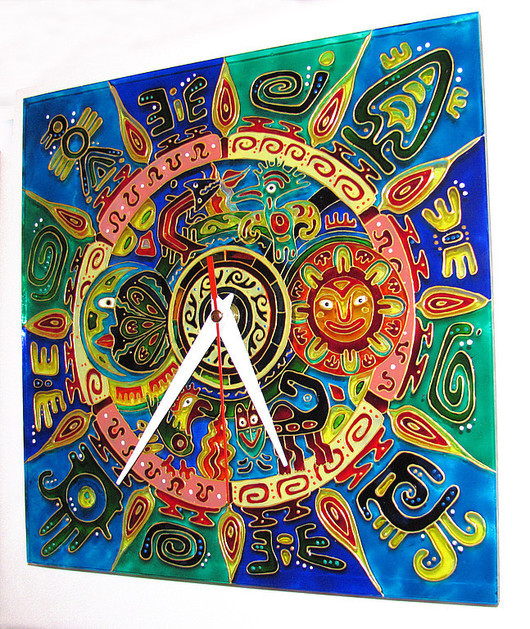 """Часы для дома ручной работы. Ярмарка Мастеров - ручная работа. Купить Часы """"Мексиканские мотивы"""". Handmade. Часы настенные"""