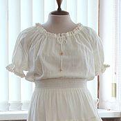 Одежда ручной работы. Ярмарка Мастеров - ручная работа Платье летнее с кружевом + подъюбник в Деревенском стиле. Handmade.