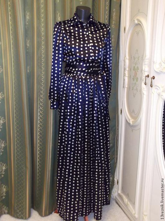 Платья ручной работы. Ярмарка Мастеров - ручная работа. Купить Платье в пол. Handmade. Тёмно-синий, платье вечернее, полусолнце