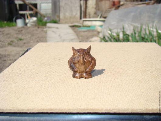 Игрушки животные, ручной работы. Ярмарка Мастеров - ручная работа. Купить Совенок. Handmade. Коричневый, фигурки животных, фигурка из дерева