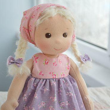 Куклы и игрушки ручной работы. Ярмарка Мастеров - ручная работа Вальдорфская кукла в косынке. Handmade.