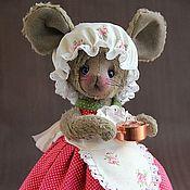 Куклы и игрушки ручной работы. Ярмарка Мастеров - ручная работа Мышка-кухарка. Handmade.