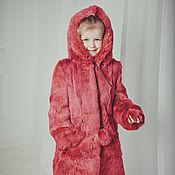 Шубы ручной работы. Ярмарка Мастеров - ручная работа Детская шуба для девочки из кролика. Handmade.