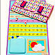 Детские аксессуары ручной работы. Ярмарка Мастеров - ручная работа. Купить Календарь из фетра. Handmade. Комбинированный, календарь ручной работы