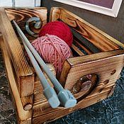 Аксессуары ручной работы. Ярмарка Мастеров - ручная работа Клубочница деревянная. Handmade.