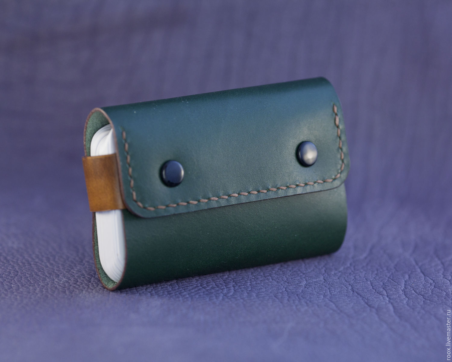 The image business card Holder made of premium Japanese leather ...