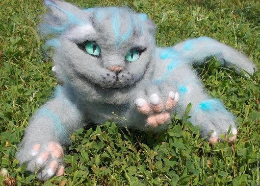 Куклы и игрушки ручной работы. Ярмарка Мастеров - ручная работа. Купить Чеширский кот. Handmade. Подарок на любой случай, серый