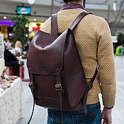 Men\\\`s backpack handmade. Livemaster - original item Backpack leather male EUGENE. Handmade.