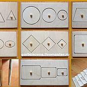 Куклы и игрушки handmade. Livemaster - original item Frame Liners with geometric shapes complete Montessori. Handmade.