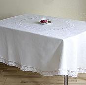 Для дома и интерьера handmade. Livemaster - original item Tablecloth oval white Renaissance. Handmade.