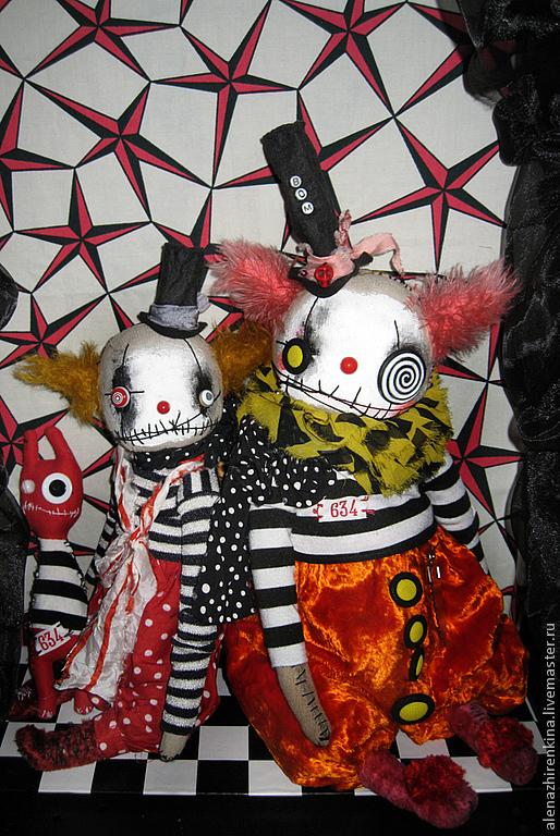 Коллекционные куклы ручной работы. Ярмарка Мастеров - ручная работа. Купить Клоун  ХоХОтун. Handmade. Клоун, креативный подарок, оранжевый
