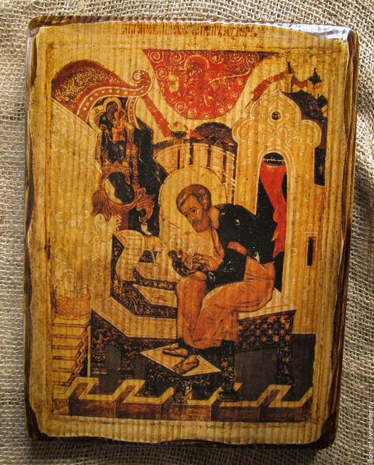 Икона на дереве ручной работы Святой Лука.