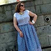 Одежда handmade. Livemaster - original item Denim sundress 1. Handmade.