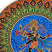 """Посуда ручной работы. Ярмарка Мастеров - ручная работа Декоративное блюдо """"Танцующий Шива"""". Handmade."""
