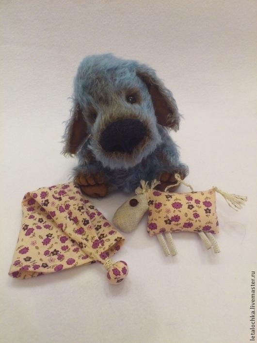 Мишки Тедди ручной работы. Ярмарка Мастеров - ручная работа. Купить Голубой щенок. Handmade. Авторская ручная работа, голубой